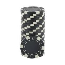 Fichas De Poker Dice 11,5 Gr Lote Com 25 Fichas - Preta