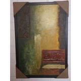 Cuadro Abstracto Moderno En Acrilico. Obra De Arte. Regalo