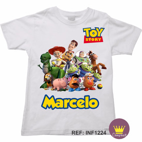 Camiseta Infantil Toy Story Woody Buzz Jessie C/ Nome 08