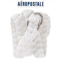 Cinto Grande Aeropostale L Blanco Plateado Cinturon Fajo Ve!