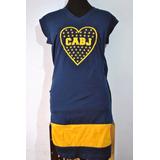 Vestido De Dama Boca Juniors Cabj