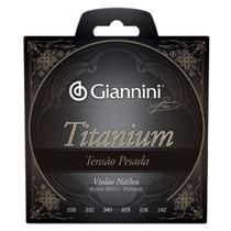 Encordoamento Para Violão Nylon Giannini Titanium Tensão Pes