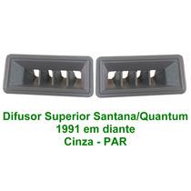 Difusor De Ar Superior Santana/ Quantum 91.. Par Cinza