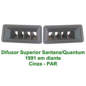 Difusor Ar Superior Santana/ Quantum 91 Em Diante Par Cinza