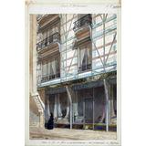 Lienzo Tela Dibujo Arquitectura Fachada Casa Comercial 1874