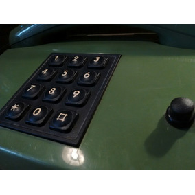Precioso Teléfono Antiguo Verde Militar