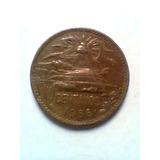 20 Centavos Cobre Mexico1966 Usada Veinte Centavos Moneda