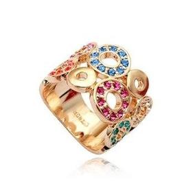 6fd374579b622 Swarovski Maravilhoso Anel Desejos Em Ouro18k Plated C - Anéis com o ...