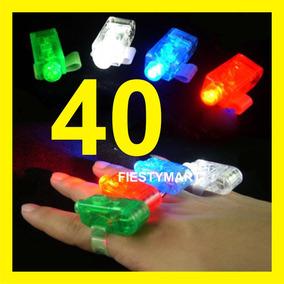 40 Anillos Luminosos Led Fiesta Boda Xv Batucada Dj Luz Dedo