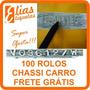 100 Rolos Etiqueta Tirar Decalque Chassi Motor Frete Grátis