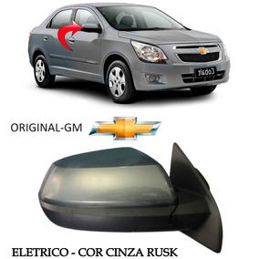 Retrovisor Cobalt Ld Eletric 2011 A 2015 Original Cinza Rusk