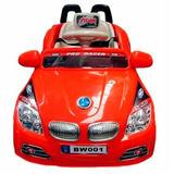 Carro Eletrico Infantil Buzina Sons Luzes Criança Vermelho