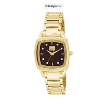 Relógio Dourado Feminino Dumont Du2035lnb/4m - Lançamento.