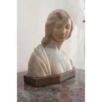 Busto Madonna Antigo Mármore Italiano Original Perfeito