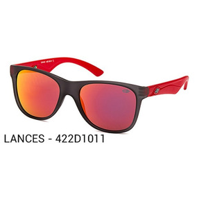 Oculos Solar Mormaii Lances 422d1011 Vermelho Preto Fosco