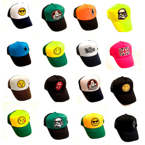 Lote 20 Gorras Happy# Tipo Truck Bordadas Comics Grupos Etc.