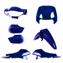 Kit Tampas+carenagem Completo Biz + 100 Azul Perol. 2002/03