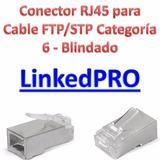 Conector Rj45 Para Cable Ftp/stp Categoría 6 Blindado Linked
