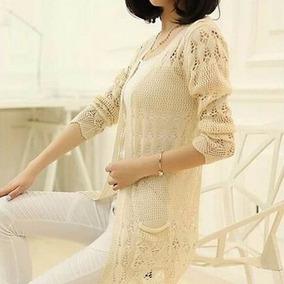 Casaco Kimono Sobretudo Cardigan Suéter Tricô Feminino