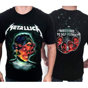 Camiseta Camisa Metallica Hardwired To Self-destruct