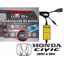 Adaptador Interface Usb Aux Para Honda New Civic 2007 À 2011