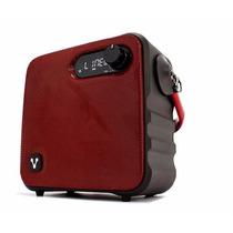 Vorago Bocinas Karaoke Microfono Inalambrico Rojo Ksp-400