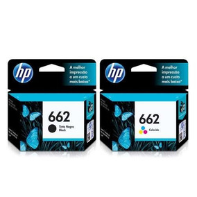 Liquida 2 Cartuchos Hp 662 Preto Color 2516 3516 1516 2546