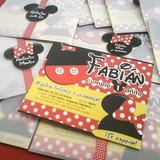 Mickey Y Minnie Mouse::: Tarjeta De Invitación Personalizada
