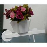Arranjo Artificial Carriola Com Flores