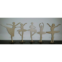 Kit 13 Bailarinas + 12 Sapatilhas Em Mdf Cru Lembrancinhas