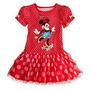 Vestido / Disfraz Disney Store Minnie Rojo T 5/6 Importado