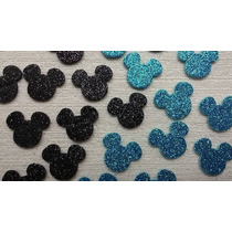 100 Apliques Em Eva - Cabeça Do Mickey / Minnie Frete Grátis