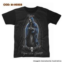 Camiseta Virgem De Guadalupe Skull Lowrider- Darkside