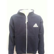 Blusa Moleton Adidas Masculina Ziper Tamanhos Xg-xg1-xg2-xg3