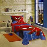 Colcha Quilt Spider- Man Homem Aranha + Fronha Lepper