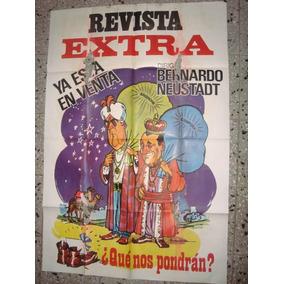 Afiche Póster Original Revista Extra Perón Neustadt 1,10x70