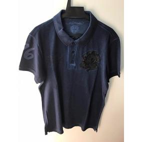 Camisa Polo Ed Hardy Christian Audigier Masculina Marinho