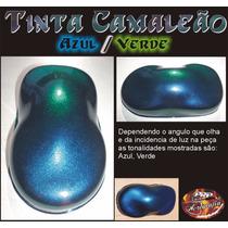 Tinta Camaleão Verde Azul - Chameleon Paint Color Green Blue