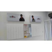 Expositor 125 Acrílico Branco Transparente 150x100