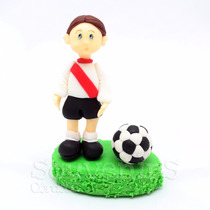 Adorno De Torta Jugador De Futbol River Boca Porcelana Fría