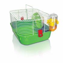 Gaiola Hamster Pop Star Verde Bebedouro Rodinha Comedouro