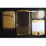 Blackberry 8520 Carcasa Dorada Parcial Original Exclusiva