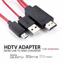 Cable Adaptador Mhl Hdmi Samsung Galaxy S3 S4 Note 2/3 Tv Hd
