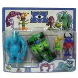 Monster University Coleccion Personajes X4 Chicos Vehiculo