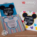Kit Invitacion La Casa De Mickey Imprimible Fiesta Cumpleaño
