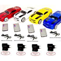 Carro Caixa Som Camaro Radio Fm Usb Mp3 Controle Remoto Brin