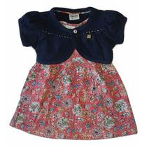 Vestido Bebe Menina Fakini Kids Tamanho G Super Confortável