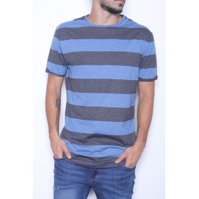 Remera Manga Corta Rayada Long Fit Bravo Jeans (26994)