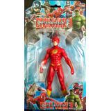 Muñeco Articulado The Flash Con Luz 17 Cm Alto