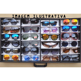 b14e0d4519109 Lote 24 Óculos Revenda + Expositor Maleta Caixa Estojo Porta